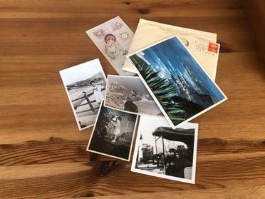 Fotografías, cartas o postales